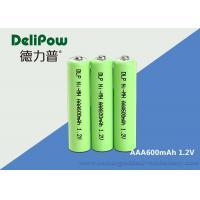 Wholesale Small Power 1.2V 600mAh Rechargeable Battery , Rechargeable Aaa Batteries Nimh from china suppliers
