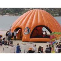 Wholesale Orange Inflatable Party Tent For Leisure , House Shade Inflatable Wedding Tent from china suppliers