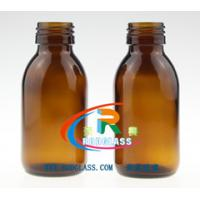 Buy cheap 100ml amber glass bottle for syrup DIN 28MM from wholesalers