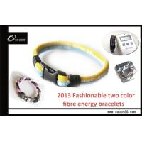 Wholesale Fibre 2 rope energy balance / ion sports bracelet to improved awareness and calmness from china suppliers