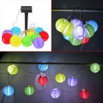 3m Color Solar Mini Lanterns String Lights - Cool White Solar Powered 10LED colorful hanging decoration