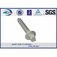 Wholesale Railway Track Sleeper Screw Spike with Slotting Head plain black galvanized from china suppliers