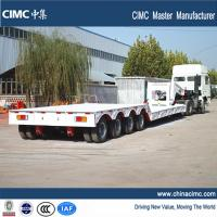Wholesale 100 tons gooseneck detachable front loading lowboy trailer from china suppliers
