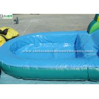 Big Outdoor Jungle Inflatable Bounce Houses With Water Slide Weight 209 Kg