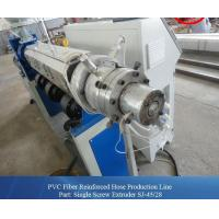 Wholesale Fully Automatic Fiber Reinforced PVC Pipe Extrusion Machine / Plastic Extruder from china suppliers