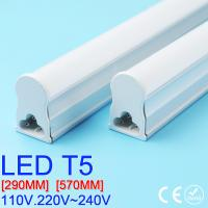 Wholesale PVC Plastic LED Tube T5 Light 30CM 60CM 110V 220V~240V LED Fluorescent Tube LED T5 Tube Lamps 6W 10W Cold White Light from china suppliers