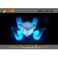 Wholesale Modern Elegant Cocktail LED Bar Tables Rechargeable With RGB light from china suppliers