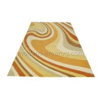 Wholesale Pink / Yellow Acrylic Area Rug, Non Slip Stain Resistant Area Rugs Latex Cotton Canvas Backed from china suppliers