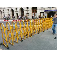 Wholesale Powder Coated Aluminium Safety Accordion Barrier Gate For Crowd Control With Brakes from china suppliers