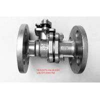 Quality 2PC Stainless Flanged Ball Valve API 608 Floating Type With Mounting for sale
