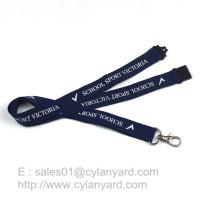 Blue lanyard with metal clasp hook