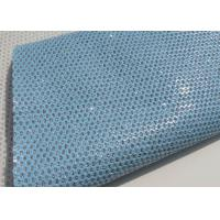 Wholesale Light Blue Beautiful Perforated Leather Fabric Waterproof Leather Material Fabric from china suppliers