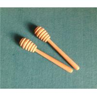 Wholesale Brand New Simple Wooden Honey Dipper Wood Honey Dippers Stick Handle Gadget 14.2x2.6cm 100pcs lot from china suppliers