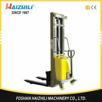 Durable steel 1 ton 2 meter double mast semi electric stacker for sale with CE
