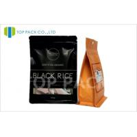 Wholesale 1000 g Coffee Packaging Bags matte black stand up pouch Rectangle Window from china suppliers