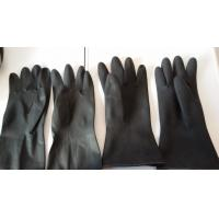Buy cheap low price ,hand protective latex glove ,spray/Dip flock lined latex gloves acid resistant from wholesalers