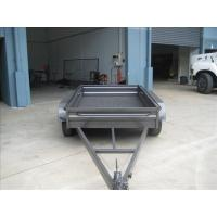 Wholesale Custom Galvanized 8x5 Tandem Flatbed Trailer With 4000 KG Load Capacity from china suppliers