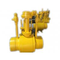 Wholesale API 6D Reduce Bore Gear operation Ball Valve Full Welded PN16 - PN25 Pressure from china suppliers