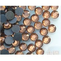 Wholesale factory sale bling crystal rhinestone applique hotfix transfer rhinestone brown color from china suppliers
