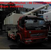 Wholesale 2018s cheapest price dongfeng 4*2 10m3 LHD  animal feed fodder transporting vehicle for sale, bulk feed delivery truck from china suppliers