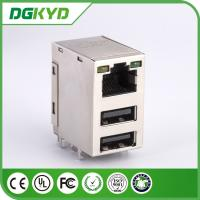 Wholesale LED RJ45 USB CONNECTOR TRANSFORMER , RJ45 WITH DOUBLE USB JACK from china suppliers