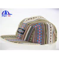 Wholesale Fashion Strip Fabric 5 Panel Camp Cap from china suppliers