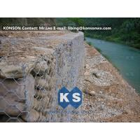 Wholesale Monolithic Galvanized Iron Wire Hexagonal Welded Mesh Gabions Retaining Wall from china suppliers