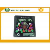 100 Pcs Tin Box Texas Holdem Luxury Poker Chips Set Personalized Poker Chips