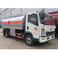 Wholesale Sinotruck HOWO 4x2 10M3 10000 Liters Fuel Tank Truck Oil Refuel Truck Fuel Tanker Bowser from china suppliers