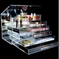 Wholesale Acrylic Material Diamond Handle Clear Acrylic Makeup Organizer from china suppliers