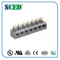Wholesale 7.62mm Center Spacing Screwless Terminal Block Grey Spring Brass from china suppliers
