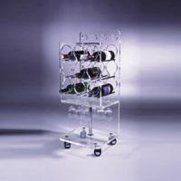 Wholesale Clear Acrylic Wine Display Stand Holder For Serving Handcart from china suppliers