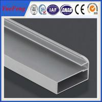Wholesale holes drilling anodized shiny machined polish shower door frame parts aluminum profile from china suppliers
