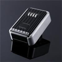 Wholesale Outdoor 4 Digital Key Lock Box , Waterproof Cover Wall Key Safe Box for Home from china suppliers