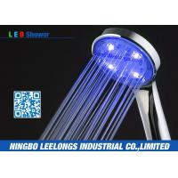 Wholesale Commercial ABS Chromed Blue led bathroom shower head without battery from china suppliers