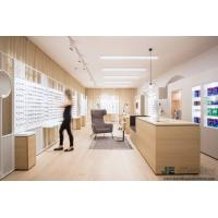 Buy cheap Raw wood wind of Interior Design for Eye Glasses shop by Natural oak wood Display Counters and White Storage Cabinets from wholesalers