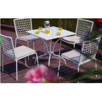 Wholesale Outdoor Garden Table And Chairs Set 5 Piece , Metal Garden Furniture Sets from china suppliers