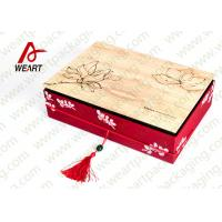 Wholesale Special Handle Christmas Cardboard Gift Boxes , Beautiful Corporate Gift Packaging Boxes from china suppliers