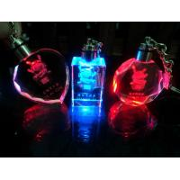 Wholesale Novelty LED Crystal Keychain With 3D Laser Engraving from china suppliers
