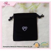 Wholesale Small Velvet cute Custom Drawstring Bags for  jewelry 7 * 10cm Logo printed from china suppliers