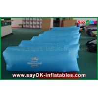 Wholesale 260 X 70cm Blue Inflatable Sleeping Air Bag Pop Up Sofa With Print Pocket from china suppliers
