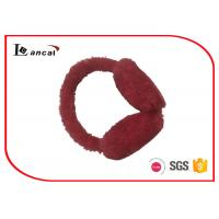 Wholesale Heart - Shaped Faux Fur Winter Ear Muffs Red Paillette On The Band from china suppliers