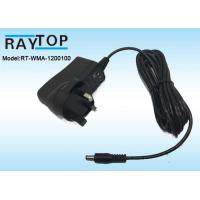 Quality UK Plug 12v wall adapter 1000mA , CE ROHS AC DC Adapter High Efficiency for sale