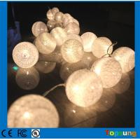 Wholesale battery operated christmas 10leds cotton balls led string lights from china suppliers