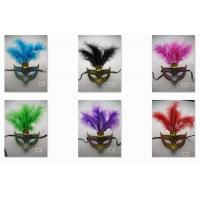 Wholesale Halloween Venetian Masquerade Party Glitter Eye Mask With Feathers from china suppliers
