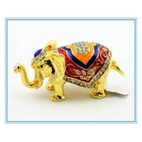 Wholesale Gold Elephant for trinket box jewelry box decoration box from china suppliers