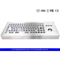 Wholesale 86 Keys Dust-proof Metal Industrial Ccomputer Desktop Keyboard With Trackball from china suppliers