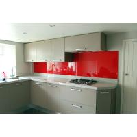 Wholesale Sinoy 4mm Traffic Red Lacquered Glass 6mm For Bars , Lacobel Clear Float Glass from china suppliers