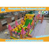 Wholesale Extreme Large Inflatable Games , Dinosaur Inflatable Fun Land With Full Digital Printing from china suppliers