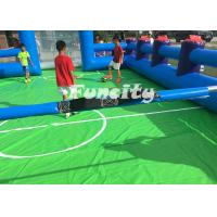 Quality 0.55MM PVC Tarpaulin Inflatable Human Foosball Court , Inflatable Soccer Field for sale